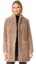 Doma Shearling Coat Beige