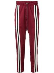 Represent Side Stripe Track Pants Red