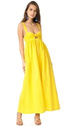 Mara Hoffman Tie Front Maxi Dress Yellow