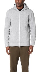 Reigning Champ Tiger Fleece Full Zip Hoodie White