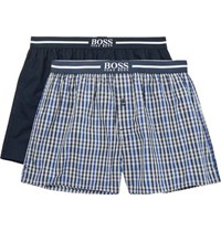 Hugo Boss Two Pack Cotton Boxer Shorts Blue