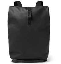 Brooks England Pickwick Leather Trimmed Canvas Backpack Black