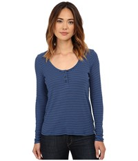 Volcom Possession Long Sleeve Top Midnight Blue Women's T Shirt