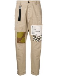 Dsquared2 Patch Detail Chinos Brown