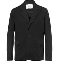 By Walid Black Edward Linen Blazer Black