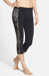 Solow Openwork Side Panel Capris Black