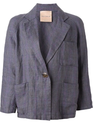 Erika Cavallini Semi Couture Checked Blazer Blue