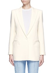 Blaze Milano 'Resolute' Wool Crepe Blazer White