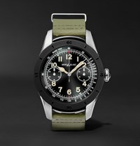 Montblanc Summit 46Mm Two Tone Pvd Coated Stainless Steel And Rubber Smartwatch Green