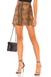 By The Way Macey Zip Mini Skirt Brown
