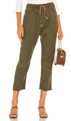 Free People Drawn Up Boyfriend Pant In Green. Army