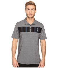 Travis Mathew Babs Polo Castlerock Black Men's Clothing Gray