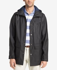 Izod Men's Hooded Wind Slicker Black