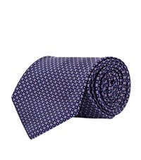 Stefano Ricci Mini Cross And Dots Tie Unisex Purple
