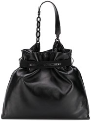 Lanvin Strap Detail Tote Bag Black