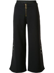 Ellery Wide Leg Cropped Trousers Black