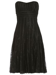 Chase 7 Lace Fitted Midi Dress Black