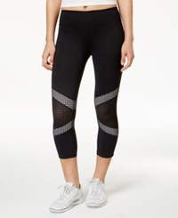 Ideology Mesh Trim Cropped Leggings Only At Macy's Bright White