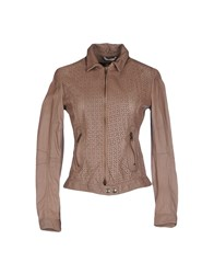 Nellandme Coats And Jackets Jackets Women Brown