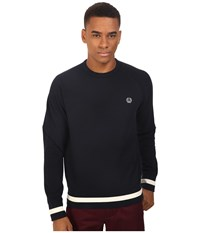 Fred Perry Crew Neck Sweat Navy Men's Long Sleeve Pullover