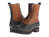 Frye Veronica Duck Boot Forest Multi Smooth Full Grain Washed Oiled Vintage Women's Lace Up Boots Black