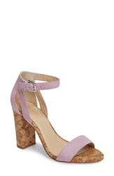 Botkier Gianna Ankle Strap Sandal Lilac Suede