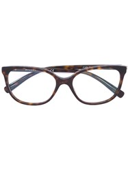 Bulgari Tortoiseshell Square Sunglasses Brown