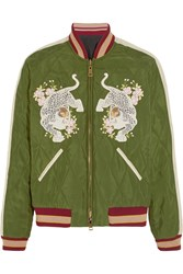 Chloe Reversible Quilted Sateen Bomber Jacket