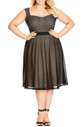 Plus Size Women's City Chic 'Party Spot' Dress