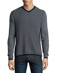 Zachary Prell Edgeware Road Textured Cashmere Blend Sweater Charcoal