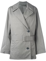Christophe Lemaire Short Trench Coat Grey