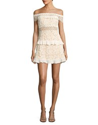 Romeo And Juliet Couture Off The Shoulder Lace Dress Canvas