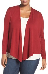 Nic Zoe Plus Size Women's '4 Way' Convertible Cotton Blend Cardigan