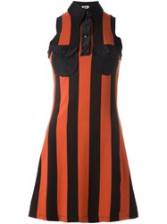 Jean Paul Gaultier Vintage Striped Dress Yellow And Orange