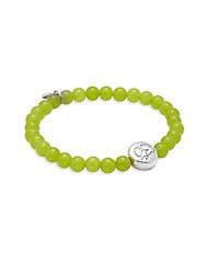 Anzie Light Green Jade And Sterling Silver Bracelet