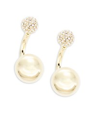 Trina Turk Crystal Pave Ball Drop Earrings Gold