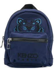 Kenzo Mini Tiger Backpack Polyester Blue