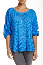 Luma Chevron Dolman Sweater Blue