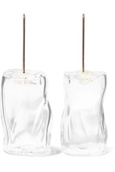 Maryam Nassir Zadeh Ice Cube Glass And Silver Earrings White