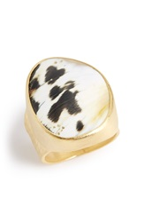 Heather Benjamin Sapi Shell Ring Black White
