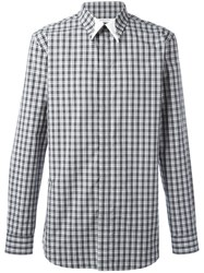 Givenchy Plaid Print Shirt Black