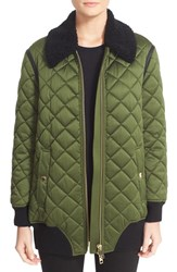 Burberry Women's Hydalelt Quilted Jacket With Genuine Shearling Collar
