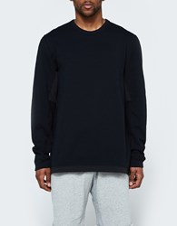 Reigning Champ Hybrid Ls Crewneck In Black