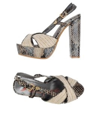 Lollipops Platform Sandals Beige