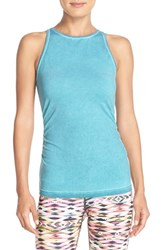 Women's Pink Lotus 'Charge' Shirred Tank