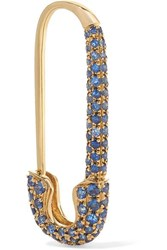 Anita Ko Safety Pin 18 Karat Gold Sapphire Earring One Size