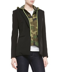 Veronica Beard Camo Print Hooded Knit Dickey