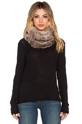 Michael Stars Faux Fur Cowl Brown