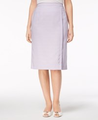Alfred Dunner Petite Roman Holiday Pencil Skirt Lilac