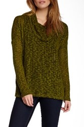 Miraclebody Jeans Cameron Slub Knit Cowl Neck Sweater Green